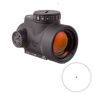 Trijicon MRO 1x25 Miniature Rifle Optic 2.0 MOA Adjustable Dot 1/2 MOA Adjustments CR2032 Lithium Battery No Mount Matte Black MRO-C-2200003