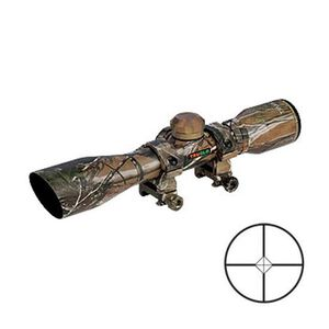 TRUGLO Compact Shotgun Scope 4x32 Diamond Ballistic Reticle 1/4 MOA Camo
