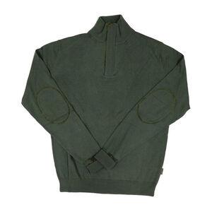 Beretta Men's Half Zip Country Sweater Size Small Wool Blend Forest Green