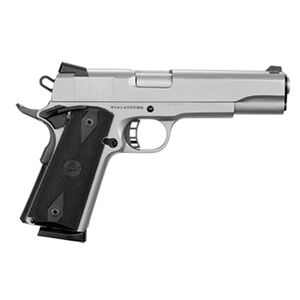 "Rock Island Armory Standard FS 1911 Semi Auto Pistol .45 ACP 5"" Barrel 8 Rounds Synthetic Rubber Grip Steel Frame/Slide Matte Nickel Finish"