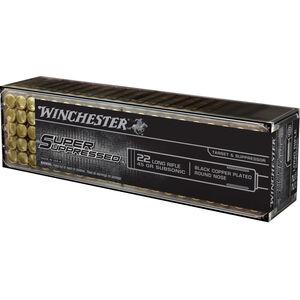 Winchester Super Suppressed .22LR Ammunition 45 Grain Black Copper Plated LRN 1090 fps