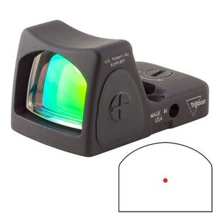 Trijicon RMR Adjustable LED Reflex Sight 3.25 MOA Red Dot Reticle 1 MOA Adjustment CR2032 Battery Aluminum Black RM06