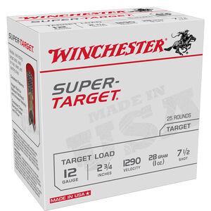 "Winchester Super-Target 12 Gauge Ammunition 25 Rounds 2.75"" #7.5 Lead 1 Ounce 1290 fps"