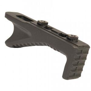 Guntec AR-15 Angled Aluminum Foregrip M-LOK Neoprene Coating Black