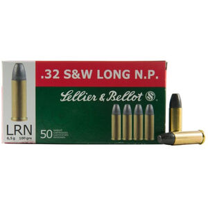 Sellier & Bellot .32 S&W Long 100 Grains LRN 50 Rounds