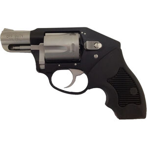 """Charter Arms Off Duty .38 Special +P DA Revolver 2"""" Barrel 5 Rounds Aluminum Frame Enclosed Hammer Rubber Grip Two Tone Matte Stainless/Black Finish"""