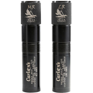 Carlson's Benelli Crio Plus 12 Gauge Delta Waterfowl Extended Choke Tubes MR and LR Chokes Stainless Steel Black Finish 2 Pack