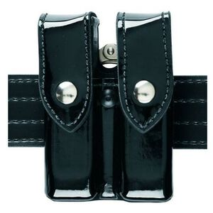 Safariland Magazine and Cuff Pouch Group 3 Magazines Hi-Gloss Synthetic Leather Black 72-83-9B