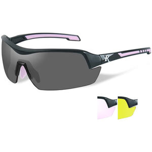 Wiley X Eyewear Remington Female Shooting Glasses Matte Black/Pink Frame 3 Lens Set Smoke/Yellow/Clear