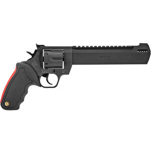 "Taurus Raging Hunter .44 Mag DA/SA Revolver 8.375 "" Ported Barrel 6 Rounds with Case Adjustable Rear Sight Picatinny Top Rail Rubber Grip Matte Black"