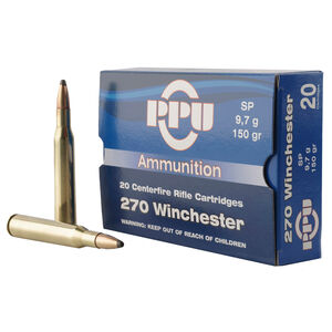 Prvi Partizan PPU .270 Winchester Ammunition 20 Rounds 150 Grain Soft Point 2850fps