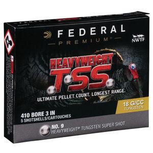 """Federal Heavyweight TSS .410 Bore Ammunition 5 Rounds 3"""" #9 Tungsten Shot 13/16 Ounce 1100fps"""