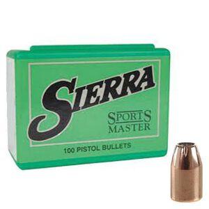 "Sierra .45 Caliber .4515"" Diameter 185 Grain Sports Master Jacketed Hollow Point Handgun Bullets 100 Count 8800"