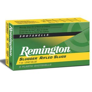 "Remington 12 Gauge Ammunition 5 Rounds 2.75"" Rifled Slug 1.0 oz."
