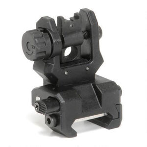 CAA Low Profile Rear Flip-Up Sight PIcatinny Mount Polymer/Steel Black