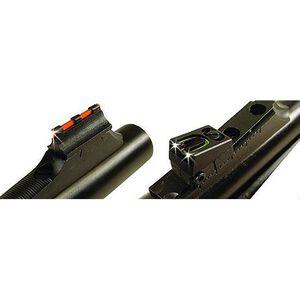 Williams Firesight Set Remington Pre 2003 Rifles/Muzzleloader/Shotguns Fiber Optic Sights Fixed Front Adjustable Rear Steel/Aluminum Matte Black