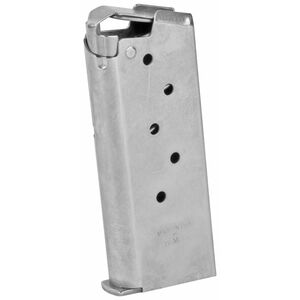 Springfield Armory 911 Series 6 Round Magazine 9mm Luger Flush FIt Stainless Steel Natural Finish PG6906