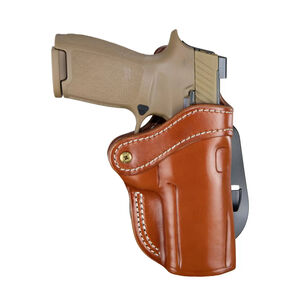 1791 Gunleather Optic Ready Open Top Multi-Fit 2.4 OWB Paddle Holster for Full Size Large Frame Semi Auto Models Right Hand Draw Leather Classic Brown