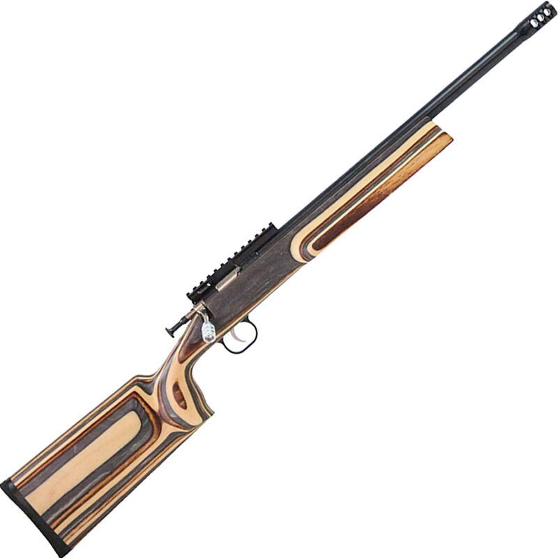 "Keystone Crickett XBR .22 LR Youth Single Shot Bolt Action Rimfire Rifle 16"" Barrel 1 Round Muzzle Break Optics Rail Birch Laminate Stock Blued Finish"