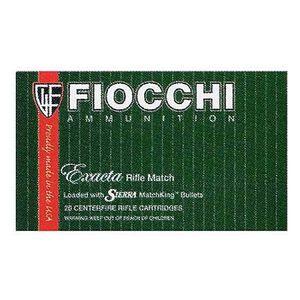 Fiocchi Exacta Match .223 Rem Ammunition 77 Grain Sierrra Match King HPBT 2725 fps