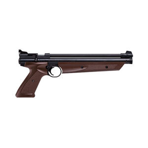 Crosman P1377BR Pump Action Single Shot .177 Caliber Pistol 600 fps Brown
