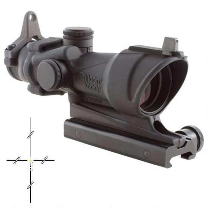 Trijicon ACOG 4x32 Amber .308 Ballistic Reticle TA51 Mount Backup Iron Sights Matte Black TA01NSN-308