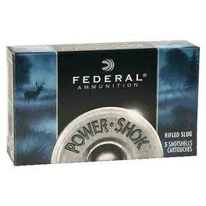 """Federal Power-Shok 10ga 3-1/2"""" Rifled Slug 1-3/4oz 5 Rnd Box"""