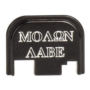 CruxOrd GLOCK 43 Back Plate Molon Labe Aluminum Black