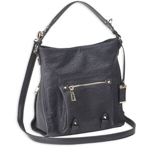 Bulldog Cases ANNA Hobo Style Purse with Concealed Holster Leather Black