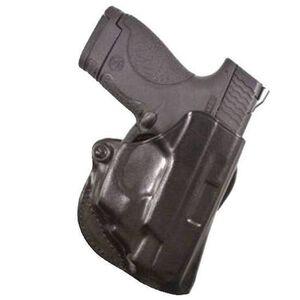 DeSantis Mini Scabbard Belt Slide Holster For GLOCK 42 Right Hand Leather Black 019BAY8Z0