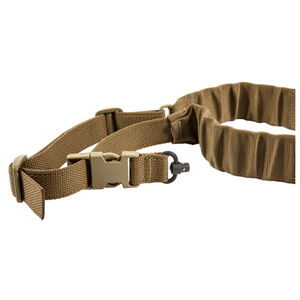 Blue Force Gear UDC Padded Bungee Single Point Sling with Push Button Attachment Nylon Coyote Brown UDC-200-BG-PB-CB