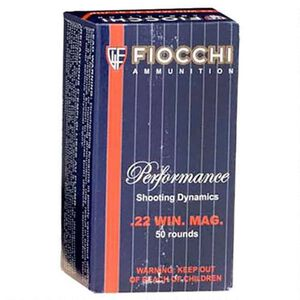 FIOCCHI .22 WMR Ammunition 50 Rounds, FMJ, 40 Grain