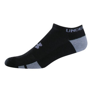 Under Armour UA Resistor III No Show Youth Sock Polyester/Spandex Youth Large 6 Pack Black