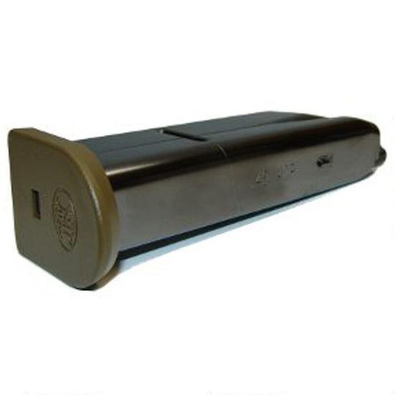 FNH USA FNS-9C Compact 10 Round Magazine 9mm Luger FDE Polymer Base Plate Stainless Black Finish