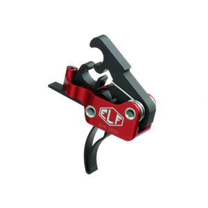 Elftmann Tactical AR-10/.308 Trigger Curved Drop-In Adjustable Large Pin Red/Black AR10-C.170
