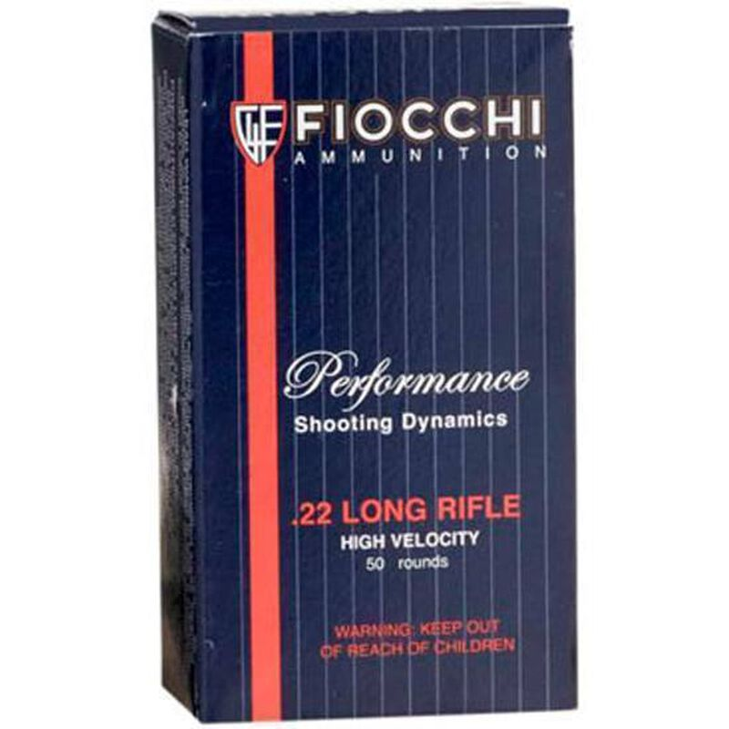 Fiocchi Hi Velocity .22LR Ammunition 38 Grain Plated Hollow Point 1250 fps