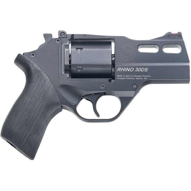 "Chiappa Rhino 30DS DA/SA Revolver .357 Mag 3"" Barrel 6 Rounds Alloy Frame Rubber Grips FO Front Sight Black Finish"