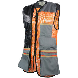 Beretta USA Two-Tone Vest 2.0 Cotton and Mesh Panels Faux Leather Shooting Patch Large Black