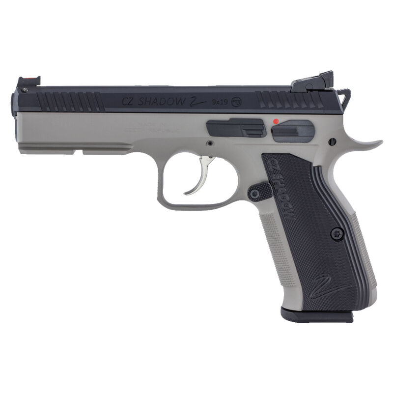 "CZ Shadow 2 Urban Grey Semi Auto Pistol 9mm Luger 4.89"" Barrel 17 Rounds Fiber Optic Front Sight/HAJO Rear Sight Aluminum Grips Black Slide/Urban Grey Frame Finish"