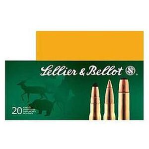 Sellier & Bellot 8x57 JS Mauser Ammunition 20 Rounds 196 Grain Soft Point Cutting Edge Projectile 2,591fps