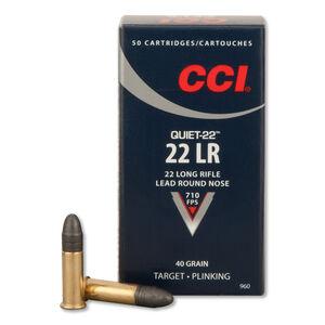 CCI Quiet-22 .22LR Ammunition 40 Grain Lead Round Nose 710 fps