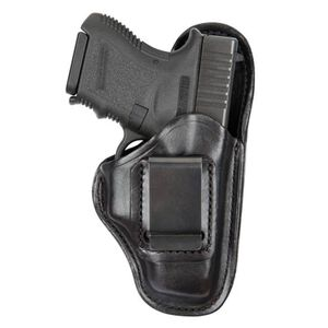 Safariland Bianchi Model 100 Professional Size 10A GLOCK 26, 27, Springfield XDS Inside Waistband Holster Right Hand Leather Black 26820