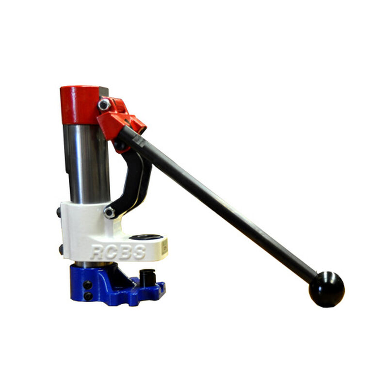 RCBS Summit Short Handle Red White And Blue Single Stage Reloading Press  Cast Iron And Steel Green 09292