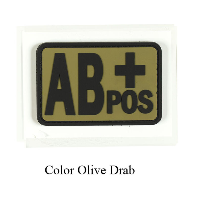 Voodoo Tactical Blood Type Patch AB + POS TPR Rubber OD