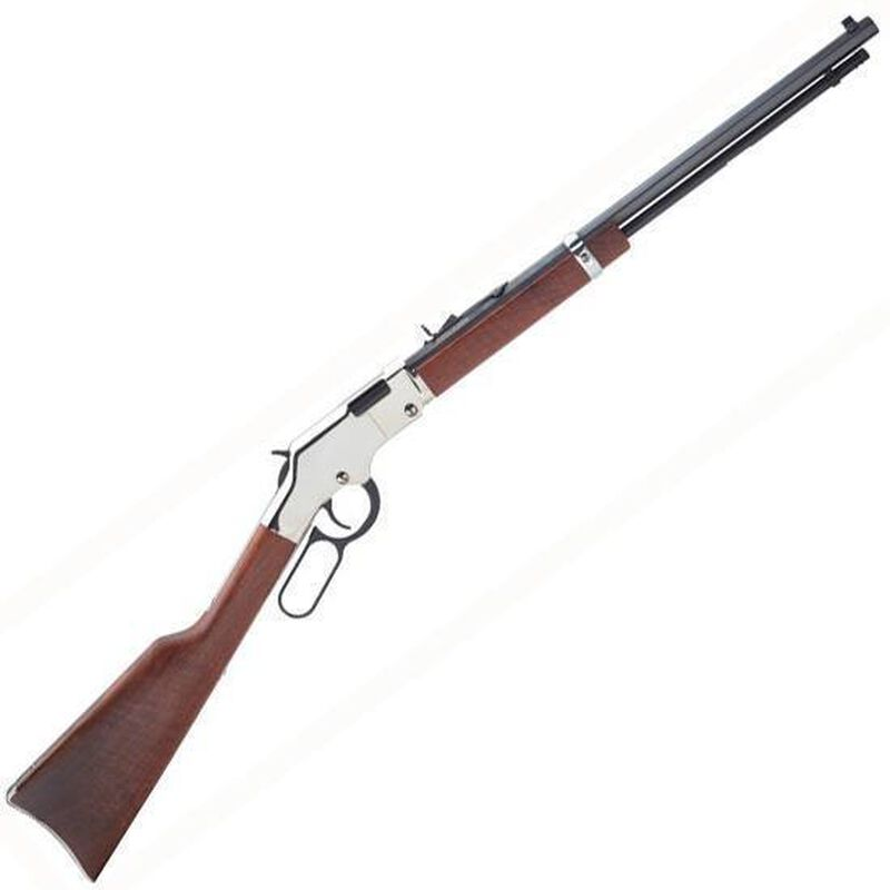 "Henry Silver Boy Lever Action Rifle .17 HMR 20"" Barrel 12 Rounds American Walnut Stock Nickel Plated Receiver H004SV"