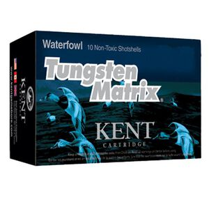 "Kent Cartridge Tungsten Matrix Waterfowl 20 Gauge Ammunition 10 Rounds 2-3/4"" Shell #5 Non-Toxic Lead Free Shot 1 Ounce 1350 fps"