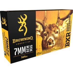 Browning BXR 7mm Remington Magnum Ammunition 200 Rounds BXR 144 Grains B192100071