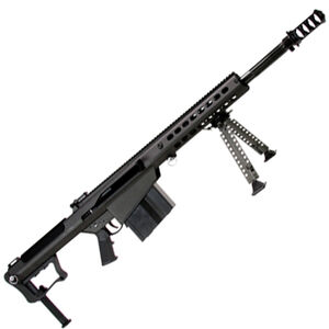 "Barrett M107A1 Semi Auto Rifle .50 BMG 20"" Fluted Barrel 10 Rounds Suppressor Ready Muzzle Brake 18"" Integrated Rail with 27 MOA Elevation Black Cerakote Receiver"