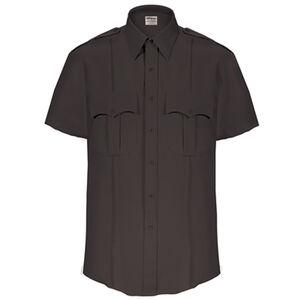 Elbeco Textrop2 Men's Short Sleeve Shirt Neck 18 100% Polyester Tropical Weave Black