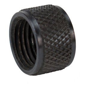DELTAC Knurled Barrel Thread Protector M14X1LH Steel Black TP103